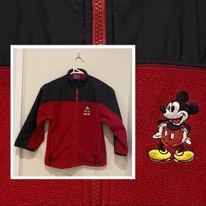 Disney Store Mickey Mouse kids fleeced zip jacket